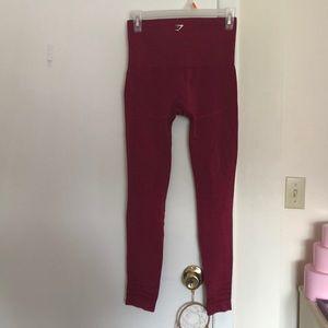 Gymshark Pants - GYMSHARK SEAMLESS LEGGINGS RED